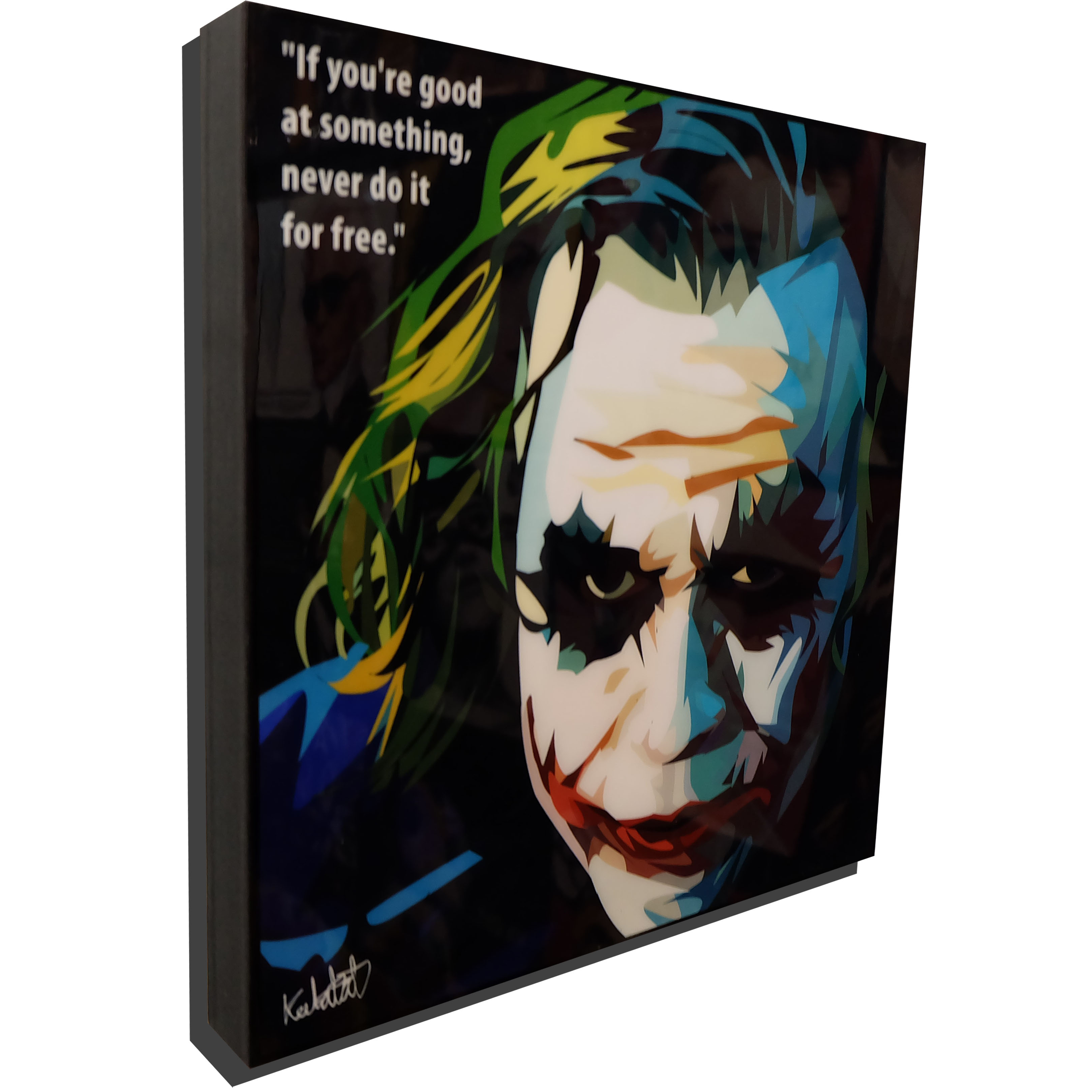 "The Joker Inspired Plaque Mounted Poster ""Good At Something"""