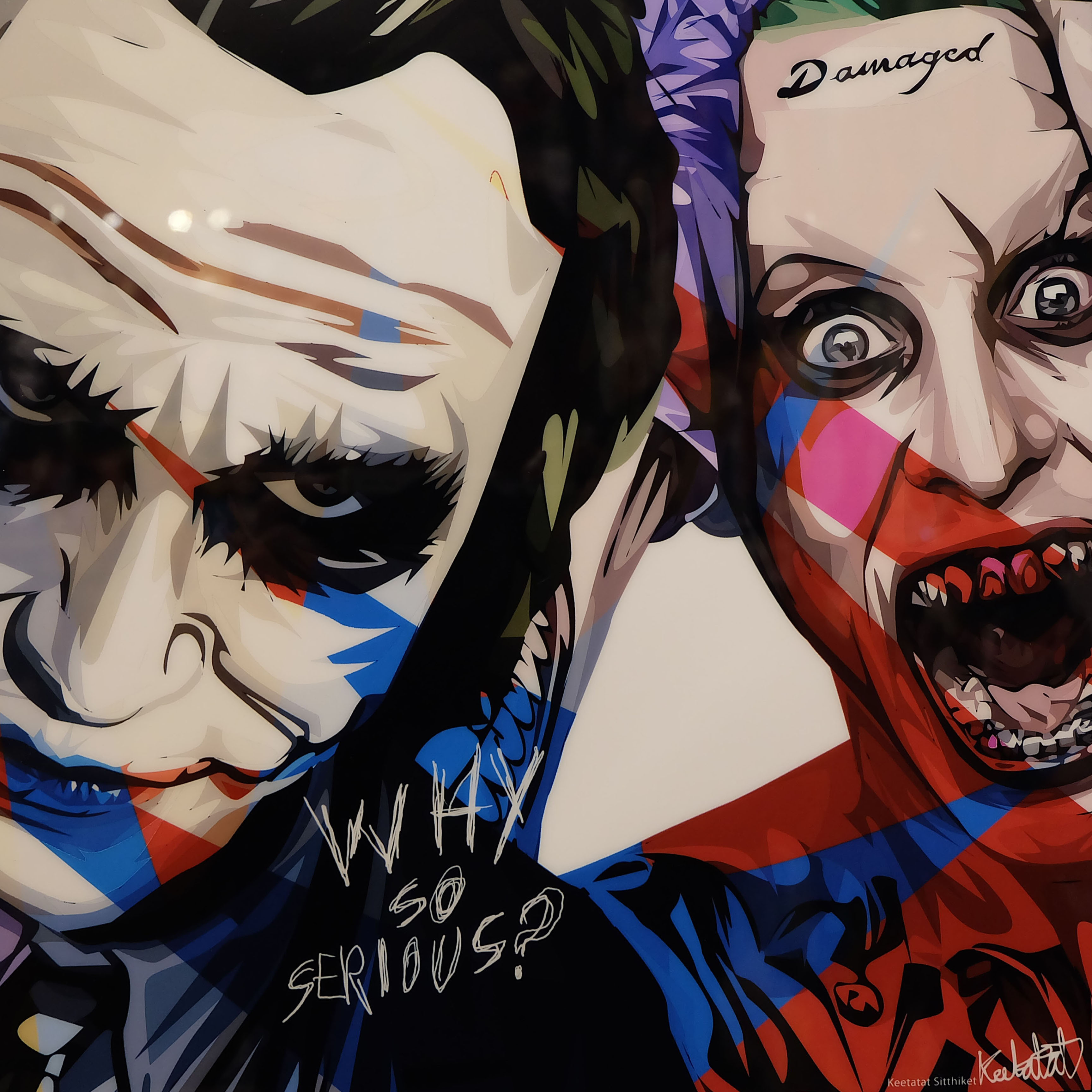 """Bape X Kaws >> The Jokers Poster Plaque """"Why so serious"""" - Infamous ..."""