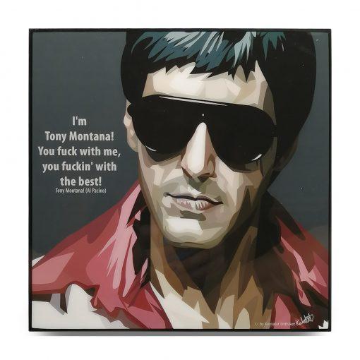 Tony Montana Scarface Pop Art Poster by Keetatat Sitthiket