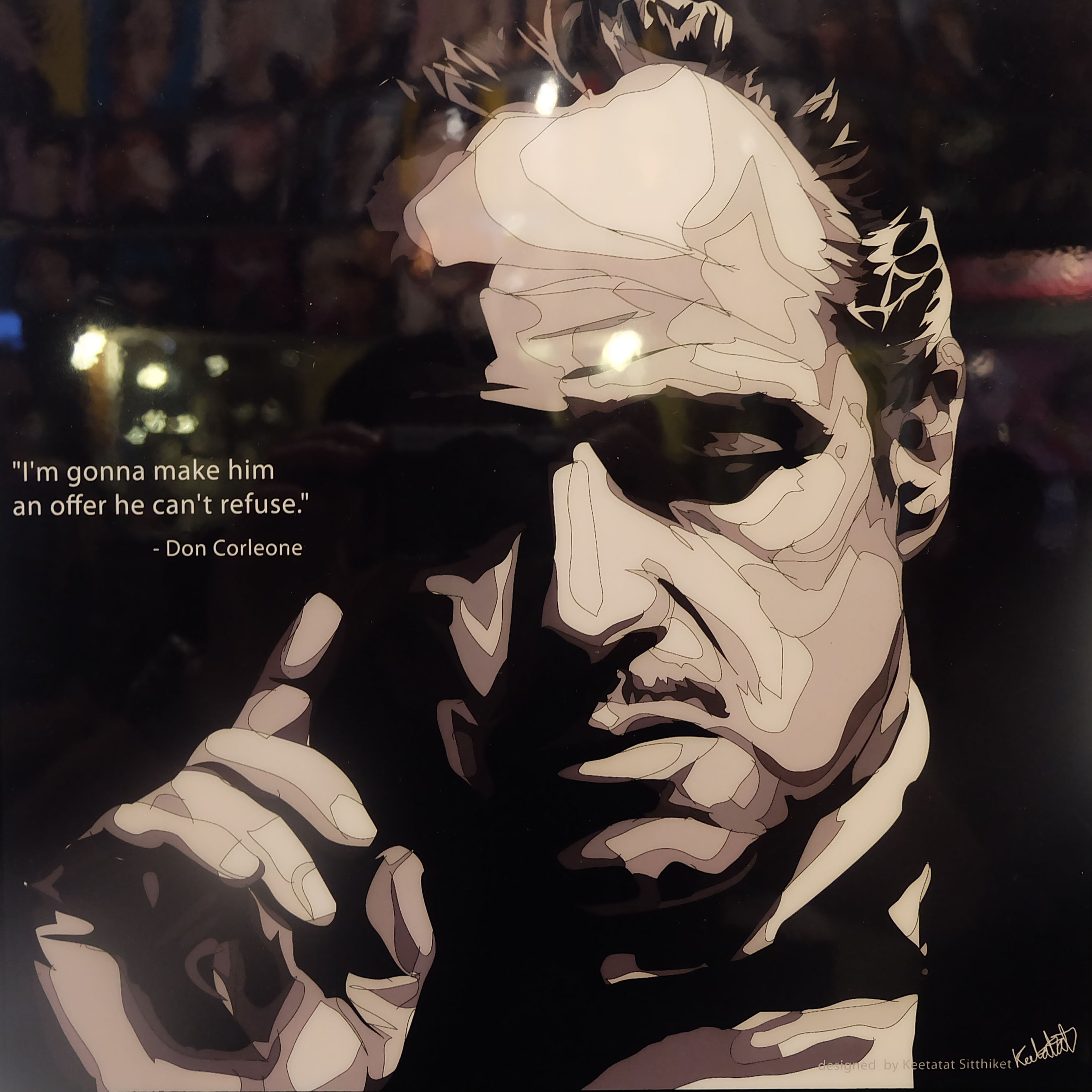 Vito corleone poster plaque im gonna make infamous inspiration vito corleone poster vito corleone poster thecheapjerseys Choice Image