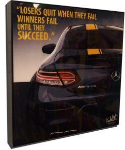 AMG Mercedes SLS Black Poster
