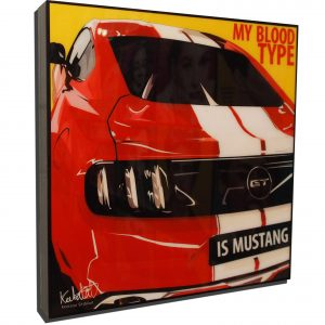 """Ford Mustang Shelby GT350 Inspired Mounted Plaque Poster """"Blood"""""""