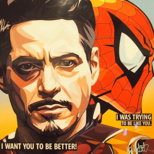 Tony Stark And Spider Man Home Coming Poster