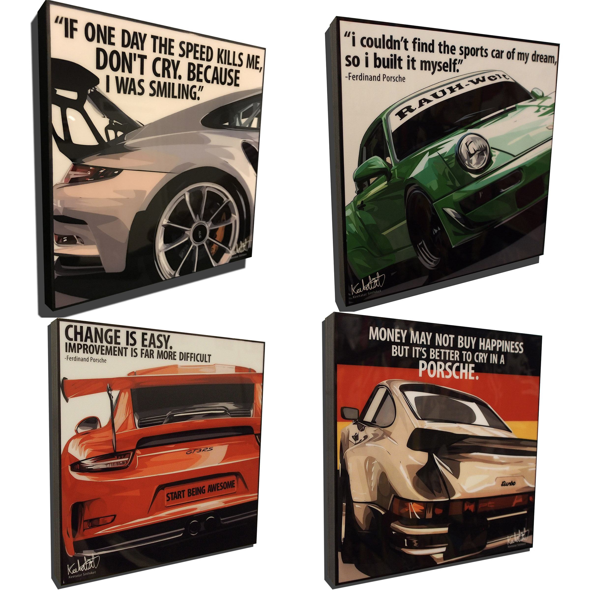 porsche 911 pack inspired mounted plaque posters. Black Bedroom Furniture Sets. Home Design Ideas