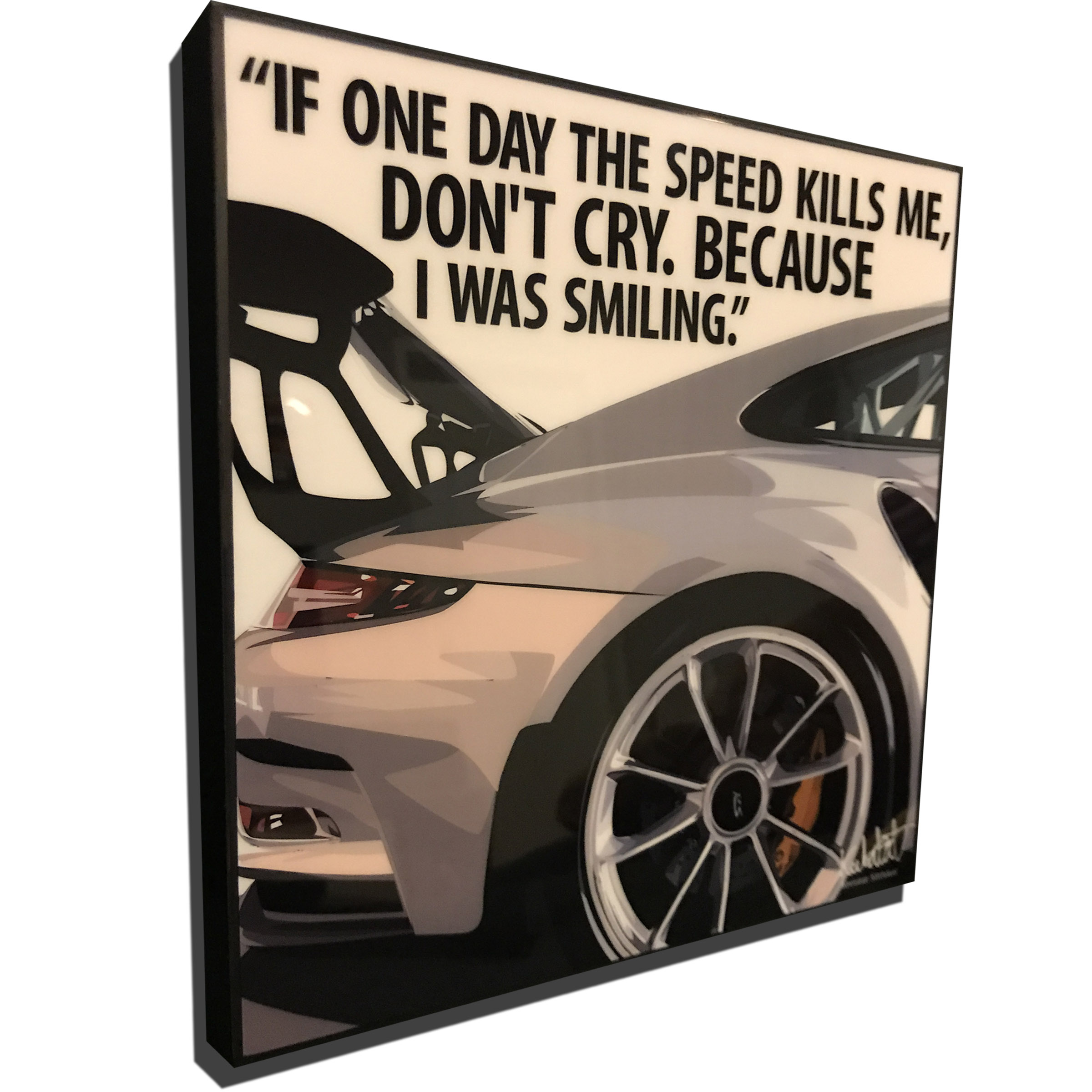 porsche 911 gt2 rs inspired mounted plaque poster speed. Black Bedroom Furniture Sets. Home Design Ideas