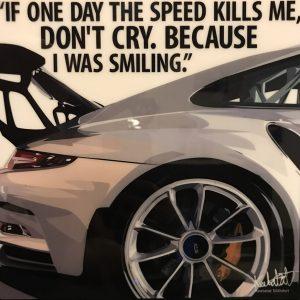 Porsche GT2 RS Poster Grey