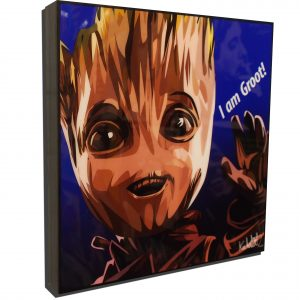 Baby Groot (Guardians of the Galaxy) Inspired Plaque Mounted Poster