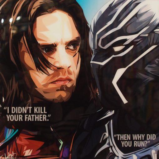 Black Panther vs Buck Barnes Poster Plaque