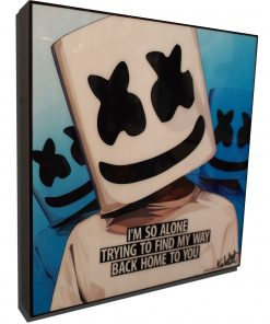 Marshmello Poster Plaque