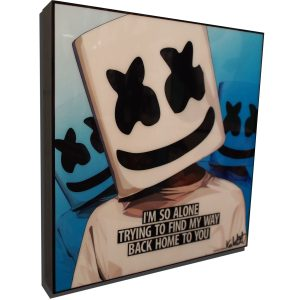 Marshmello Poster Plaque