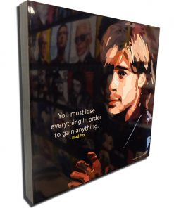 Brad Pitt Poster Plaque Black