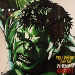 Hulk poster plaque