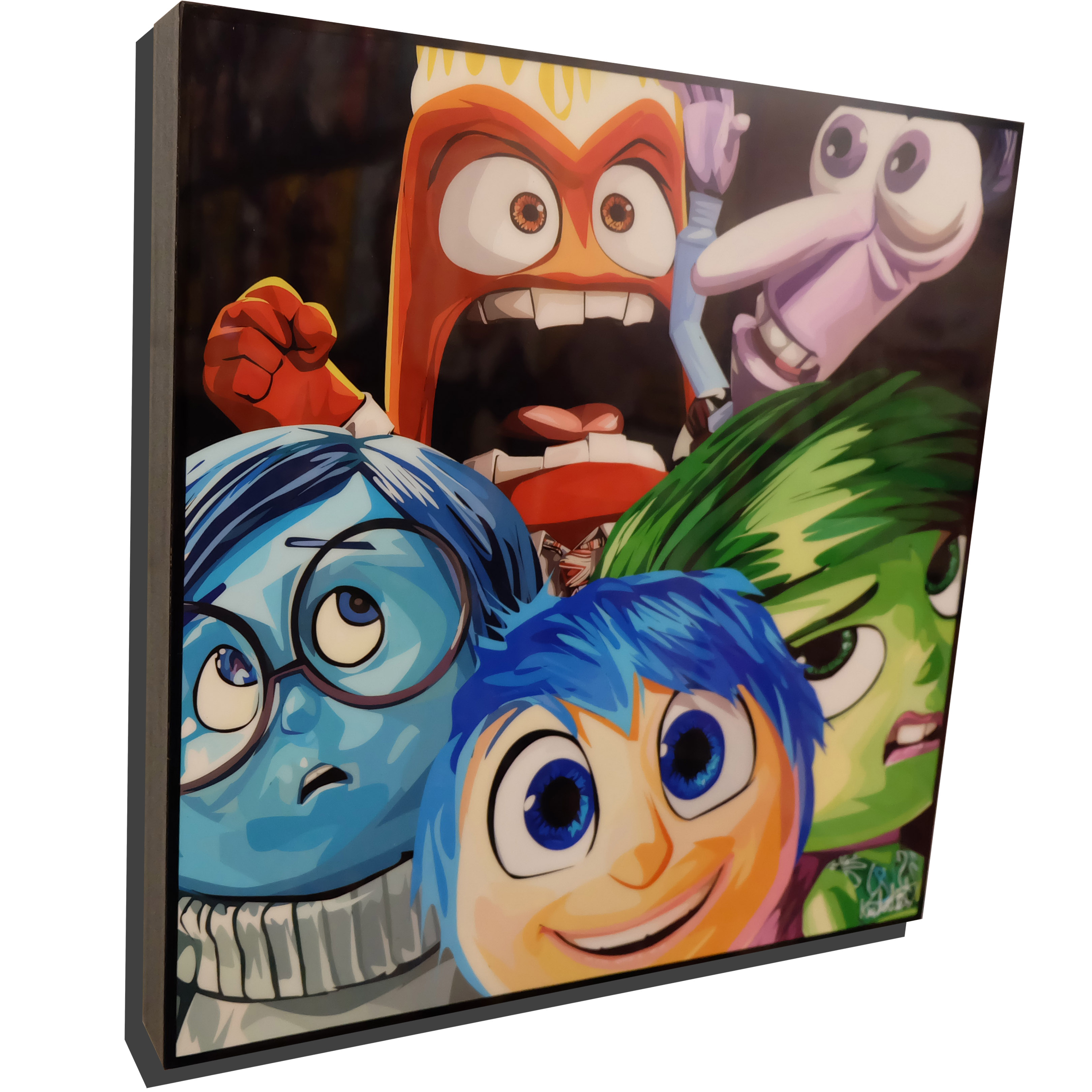 Inside Out Poster Plaque Featuring Joy, Sadness, Disgust, Anger and Fear