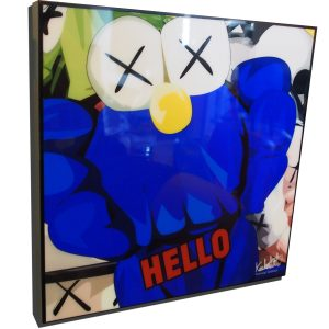 KAWs BFF poster plaque