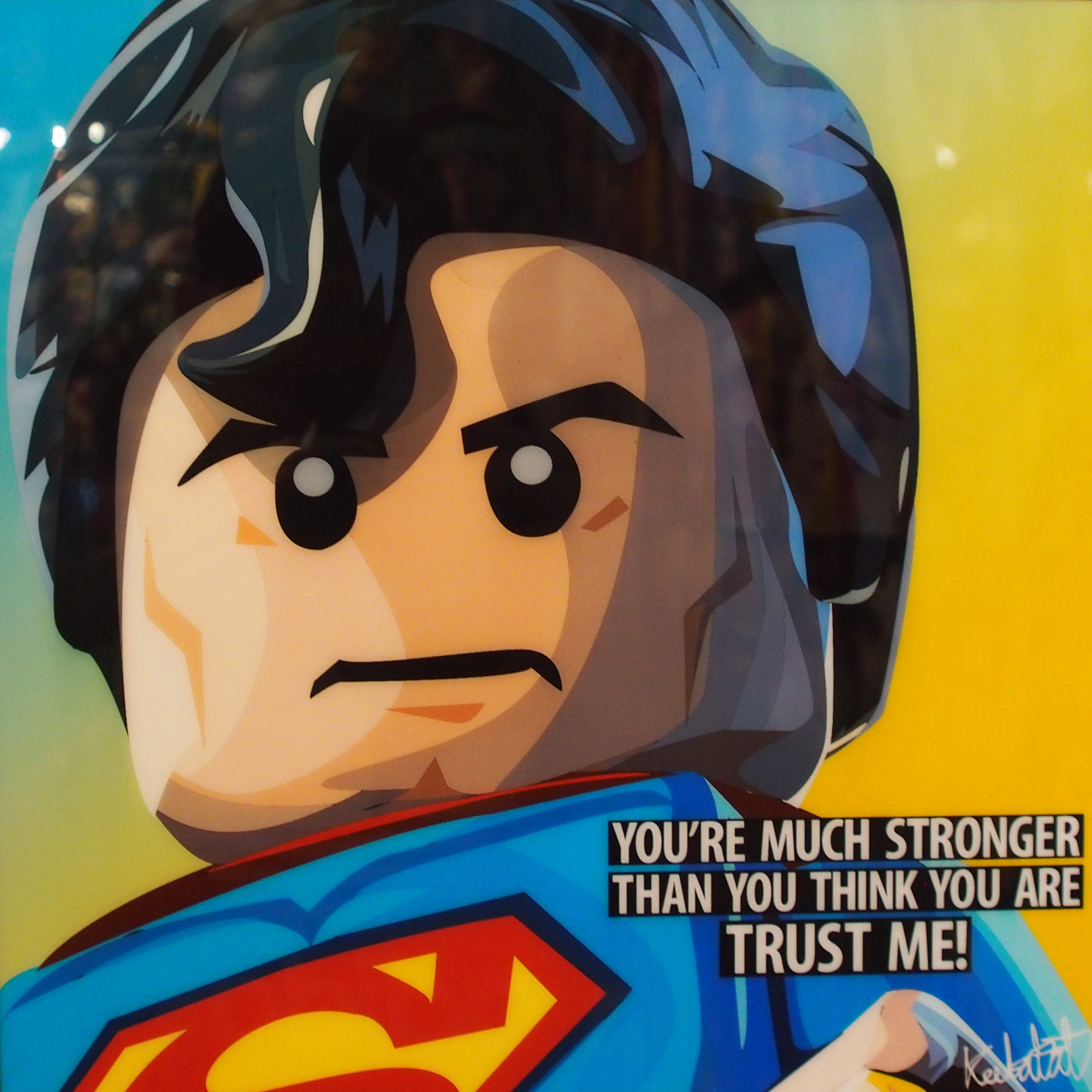 "LEGO Superman Poster ""You're Much Stronger..."""