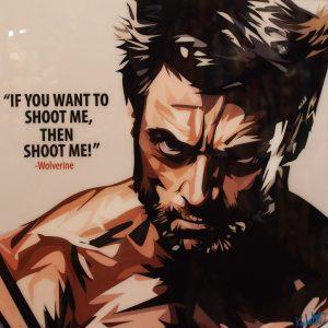 Wolverine Poster Plaque