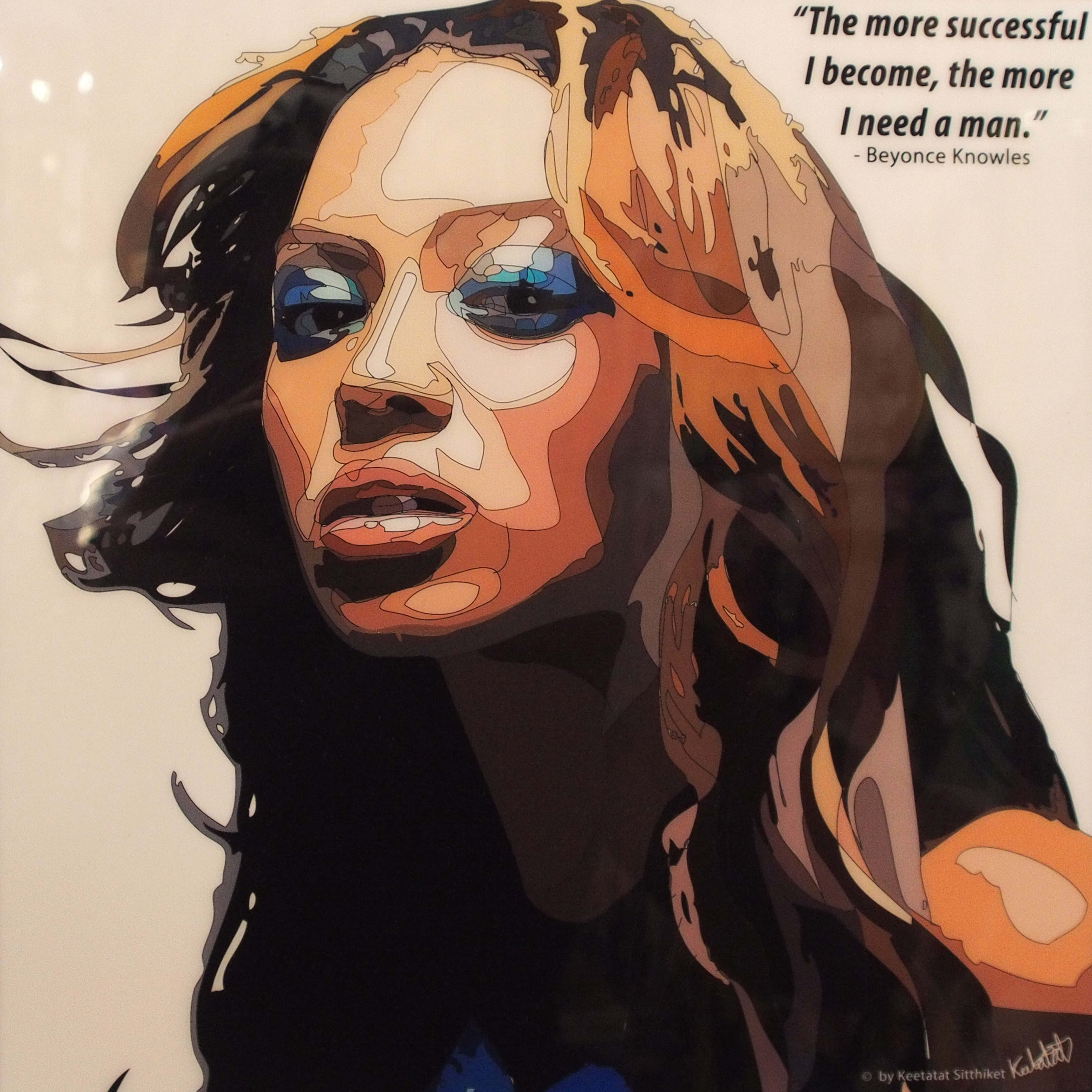"""Beyonce Knowles Poster """"The more successful """" Infamous Inspiration"""