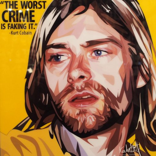 Kurt Cobain Poster Plaque