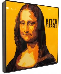 Mona Lisa Poster Plaque