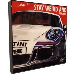 Porsche 991 Martini Poster Plaque