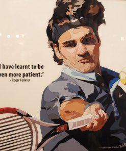 Roger Federer Poster Plaque