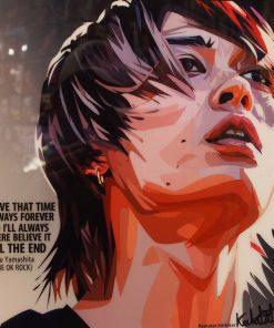 Toru Yamshita One Ok Rock Poster