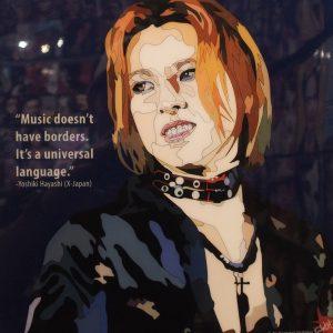 Yoshiki Hayashi X Japan Poster Plaque