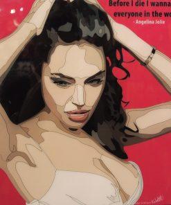 Angelina Jolie Poster Plaque