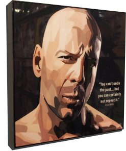 Bruce Willis Poster Plaque
