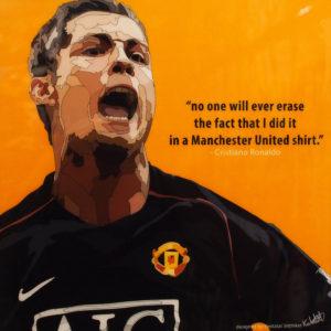 Cristiano Ronaldo Man United Poster