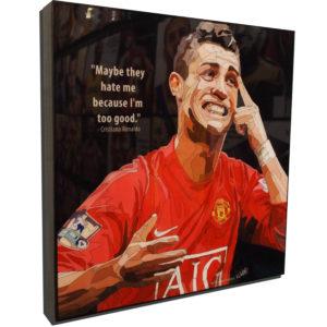 Cristiano Ronaldo Manchester United Poster Plaque