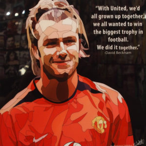 David Beckham Manchester United Poster