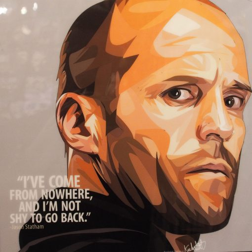 Jason Statham Poster Plaque
