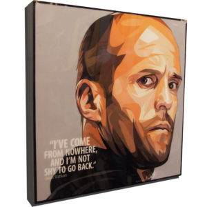 Jason Statham Poster Plaque