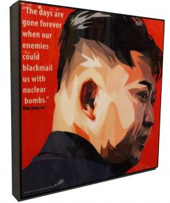 Kim Jong-un Poster Plaque