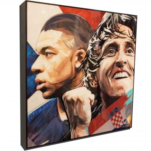 Kylian Mbappé & Luka Modrić Poster Plaque