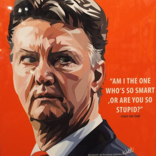Louis van Gaal Poster Plaque
