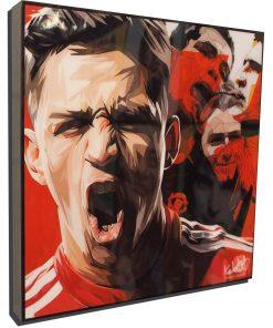 Alexis Sanchez Manchester United Poster Plaque