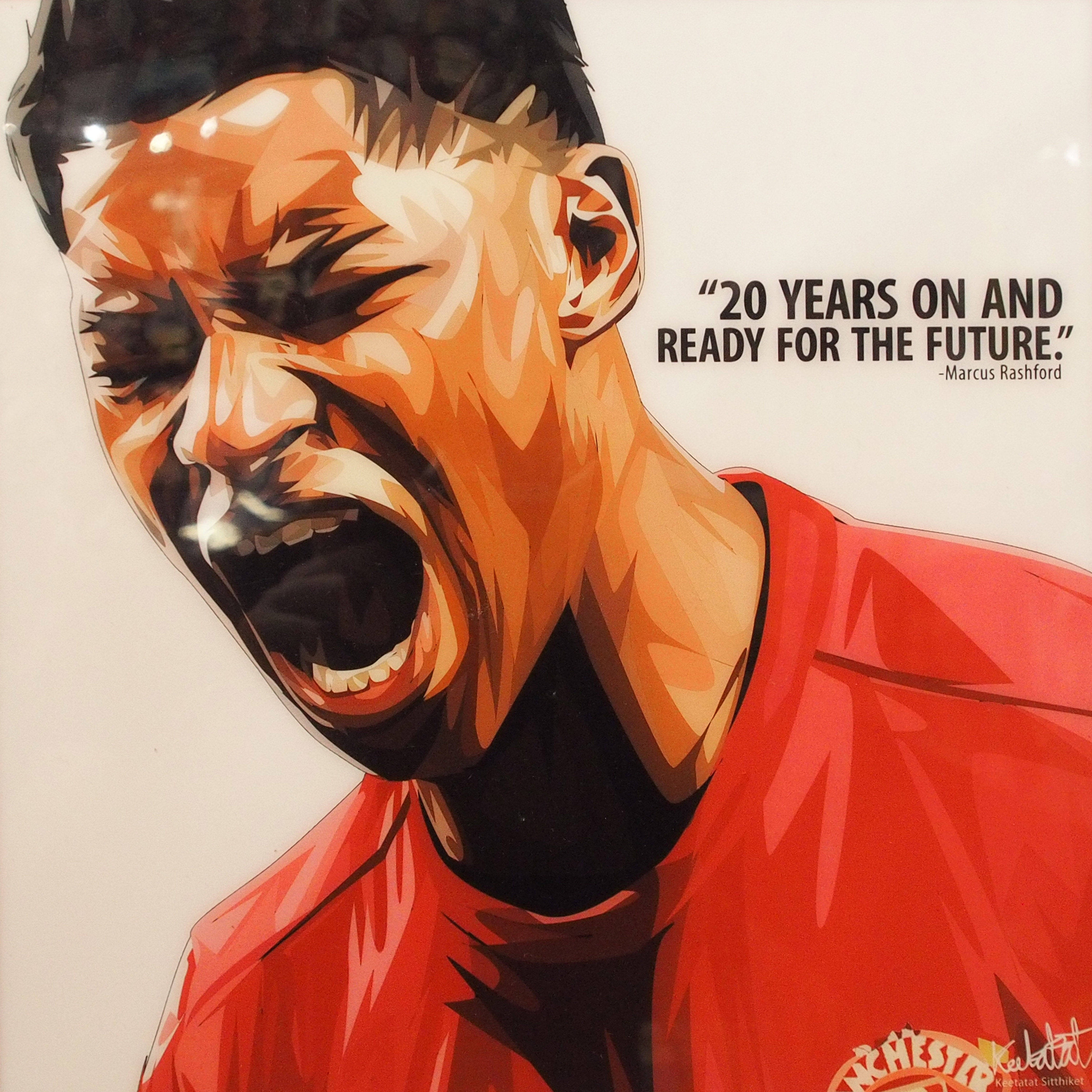 Marcus Rashford Poster 20 Years On And Ready Infamous Inspiration