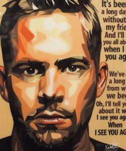Paul Walker Poster Plaque