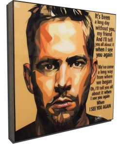 Paul Walker Poster Plaque