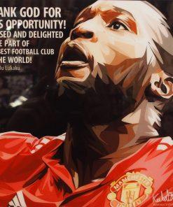 Romelu Lukaku Poster Plaque