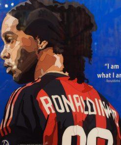 Ronaldinho Poster Plaque