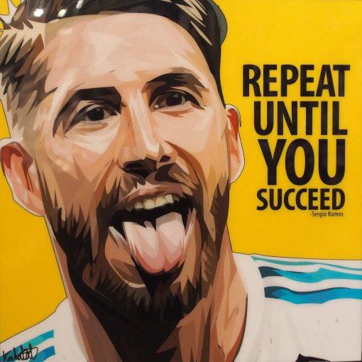 Sergio Ramos Poster Plaque