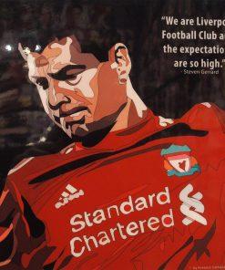 Steven Gerrard Poster Plaque