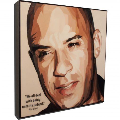 Vin Diesel Poster Plaque