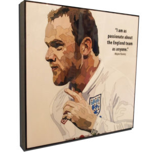 Wayne Rooney England Poster Plaque
