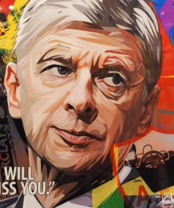 Arsene Wenger Poster Plaque