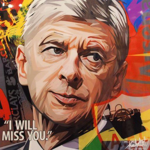 Arsene Wenger Poster Plaque