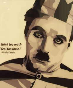Charlie Chaplin Poster Plaque
